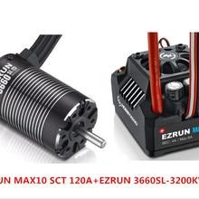 F19286/8 Hobbywing EZRUN MAX10 SCT 120A бесщеточный ESC+ 3660 G2 3200KV/4000KV/4600KV Бессенсорный двигатель комплект для 1/10 RC автомобилей грузовиков