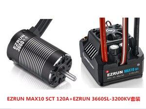 Image 1 - F19286/8 Hobbywing EZRUN MAX10 SCT 120A 브러시리스 ESC + 3660 G2 1/10 RC 자동차 트럭 용 3200KV/ 4000KV/4600KV 센서리스 모터 키트
