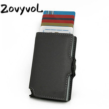 ZOVYVOL 2019 New Men Credit Card Holder Fashion Metal With RFID Case Automatic Money Cash Clip Mini Wallet
