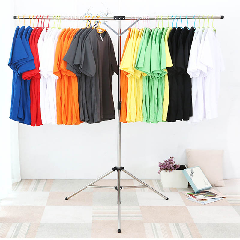 Foldable Clothes Drying Rack Stainless Steel Adjustable Garment Clothing Hanger for Indoor Outdoor J2Y
