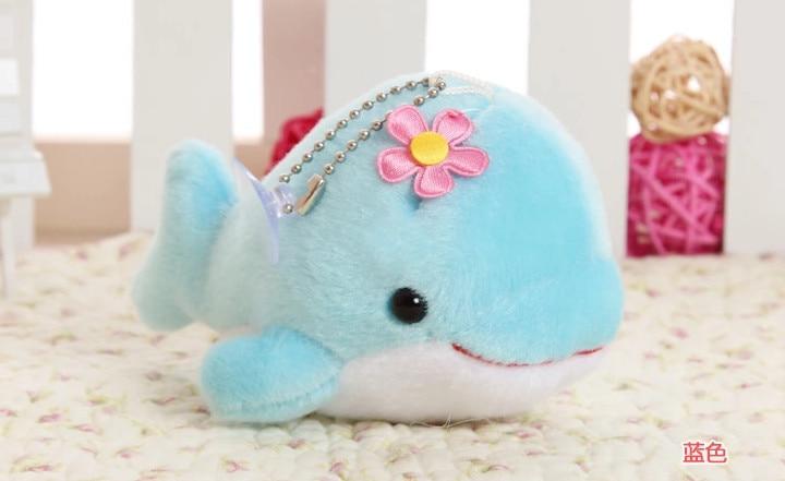 12cm super cute dolphine plush toy porpoise stuffed doll small pendant phonestrape cellular phone accessories