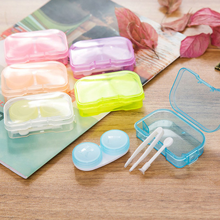 Heiße Nette candy farbe Kunststoff Kontaktlinsen Box Halter ...