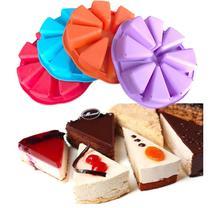 Xibao silicón de la forma 100% de la categoría alimenticia 8 agujero orange cake pan/pizza cupcake pan redondo grande para hornear diy molde