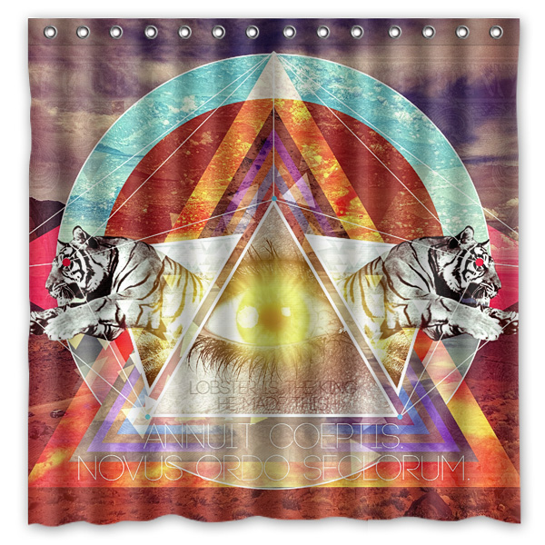 Illuminati Impreso Cortinas De Ducha Productos de baño de Tela de Poliéster Resi