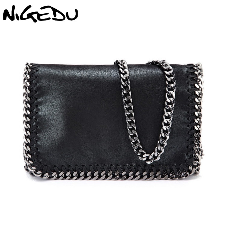 NIGEDU Fashion Crossbody Bag For Women Handbags High Quality Brand Female Envelope Clutch Bag Stella Chain Message Bags Black