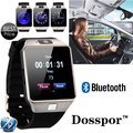 Dosspor dz09 blurtooth smart watch con cámara sim/tf teléfono reloj de pulsera para iphone xiaomi samsung teléfono android smartwatch