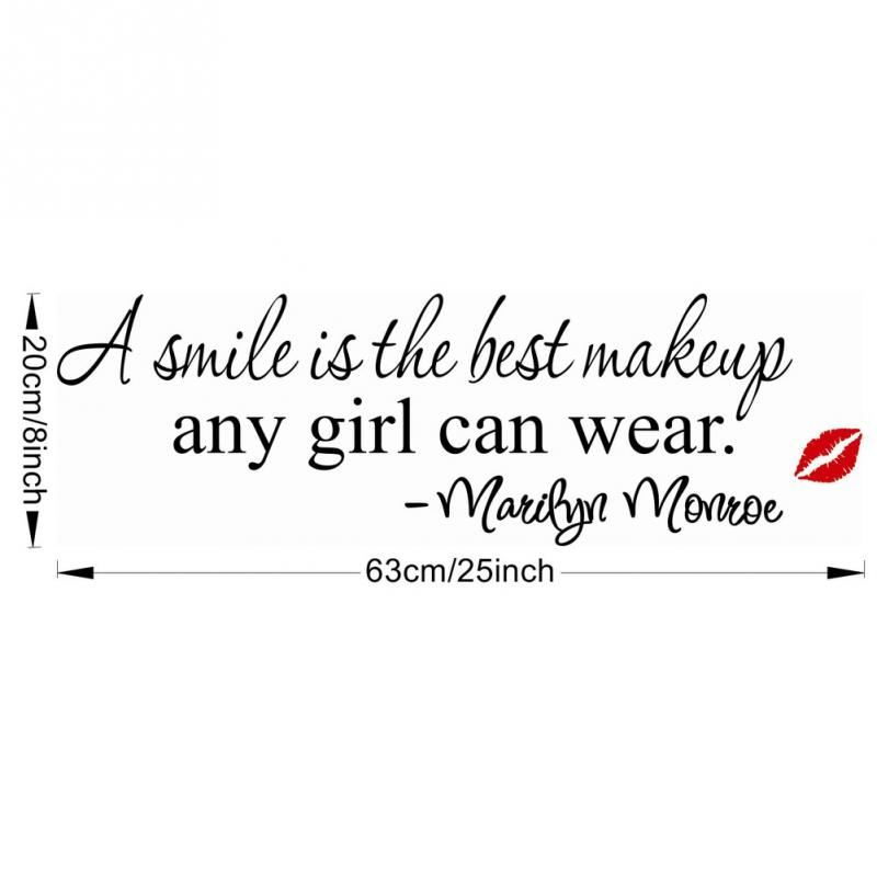 6023cm Smile Is The Best Makeup Any Girl Can Wear Wall Sticker Good