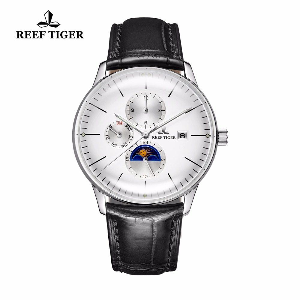 2019 New Reef Tiger/RT Fashion Casual Watches Men Waterproof Automatic Watches Genuine Leather Strap RGA16532019 New Reef Tiger/RT Fashion Casual Watches Men Waterproof Automatic Watches Genuine Leather Strap RGA1653