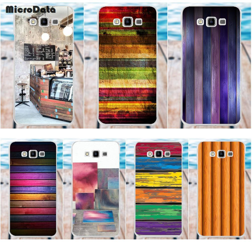MicroData Soft TPU Cover For Samsung Galaxy A3 A5 A7 J1 J2 J3 J5 J7 2015 2016 2017 Newest Colorful Wood Panels