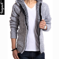 Blusas Masculinas Winter Sweater Men 2015 New Fashion Spring Autumn Thick Hooded Sweaters Cardigan Clothing Free
