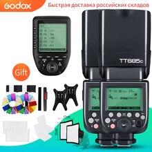 فلاش Speedlight مع جهاز إرسال Xpro لكاميرات كانون, نيكون ، سوني ، فوجي ، أوليمبوس ، TT685C TT685N TT685S TT685F TT685O TTL HSS ، 2 قطعة