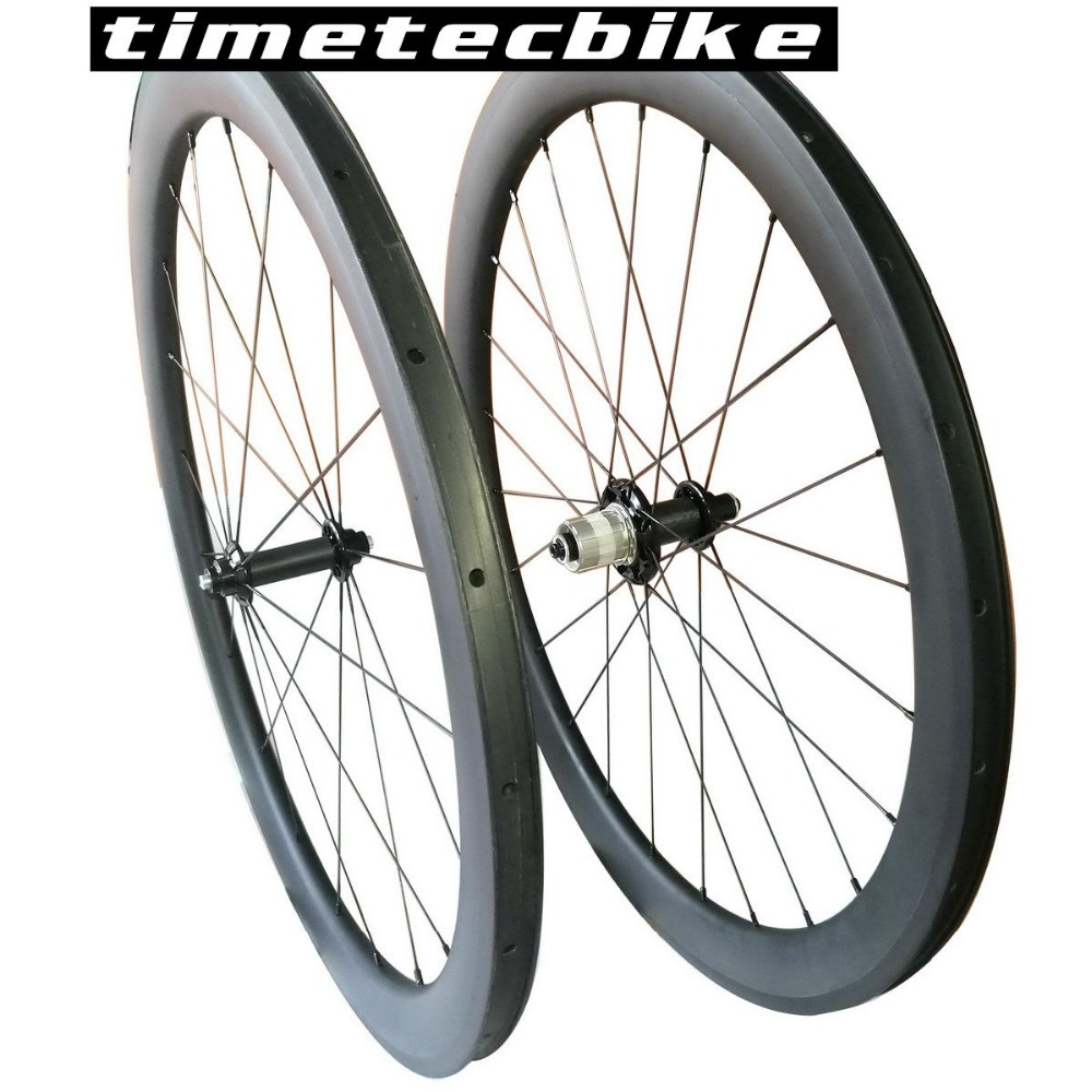 1 Day Ship Road Bike Wheels 50mm Carbon Fiber Wheelset Clincher Bicycle Wheelset