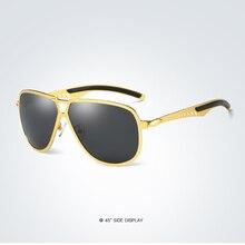 Al-mg Alloy Cool Double Bridge Gold Black Frame Polarized Sunglasses Custom Made Myopia Minus Prescription Lens -1To-6