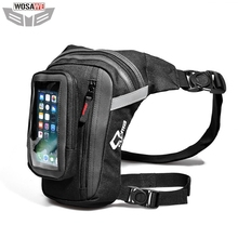 CUCYMA Motorcycles Drop Leg Bag Motorbike Riding Knight Waist Backpack Fanny Pack with Touch Screen Cell Phone Case