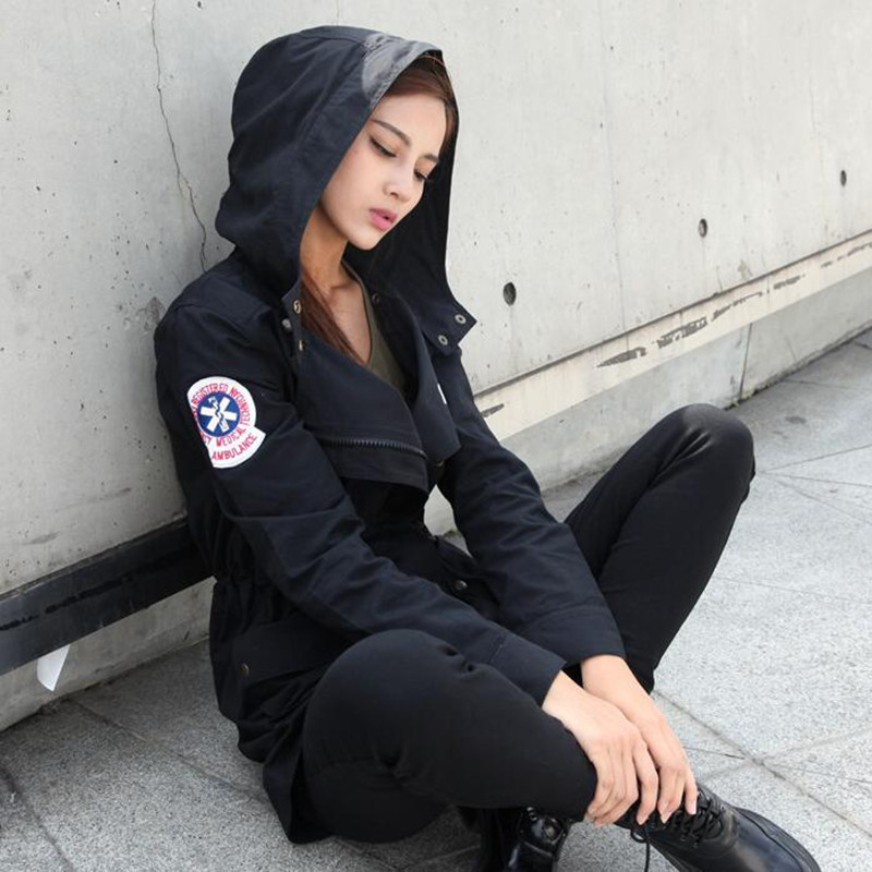 New Women Spring Trench Tactical Military Jacket 100 Cotton Female Urban Coat