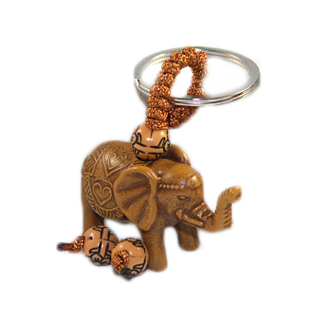 New Classic Lucky Men Women's Elephant Carving Pendant Keychain Key Ring Chain Gift