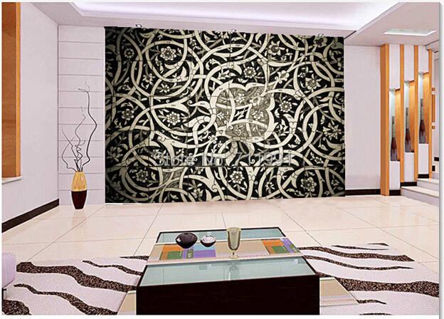 Online Shop Free Shipping Custom 3d Oriental Tiles Wall Mural Modern