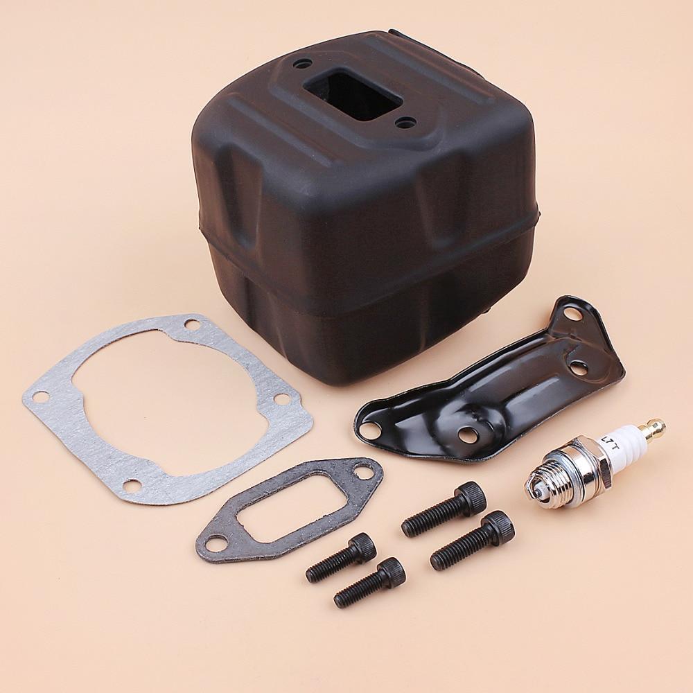 Muffler Kit 390XP Bracket Screen Husqvarna Chainsaw 390 Spark Fit 385XP Gasket Exhaust Arrestor Mount Screw 385 XP With