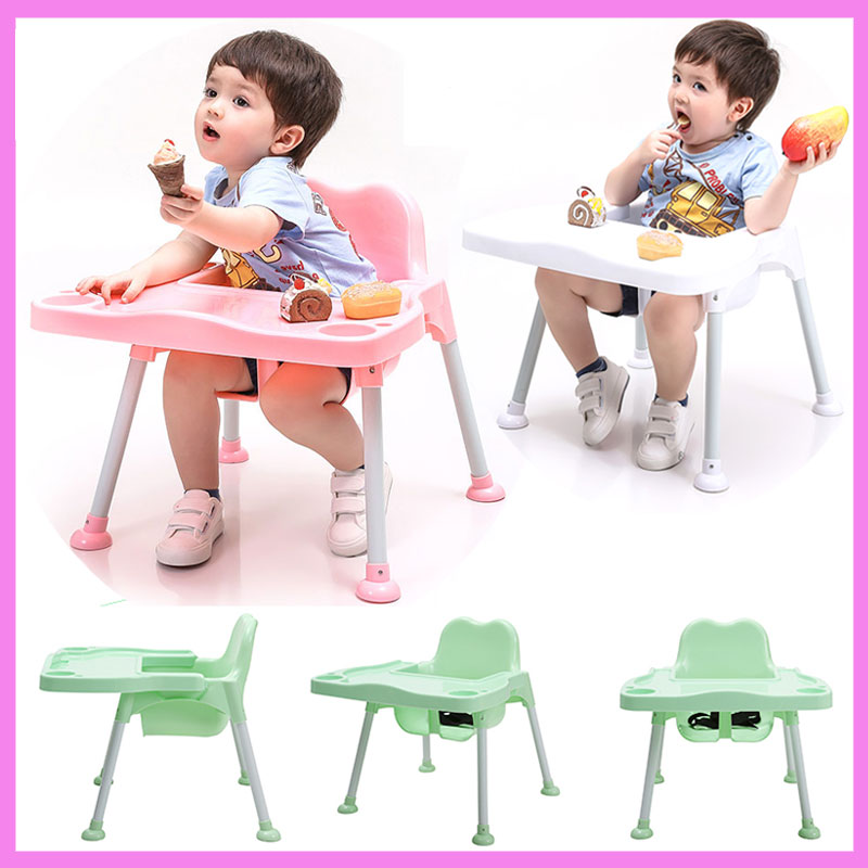 Detachable Portable Infant Baby Child Eatting Safety Seat Dining Highchair Safety Strap Baby Feeding Chair Seat with Table Plate dining chair child baby the design concept of high landscape equipp with feeding bottle water cup holder infant playing chair