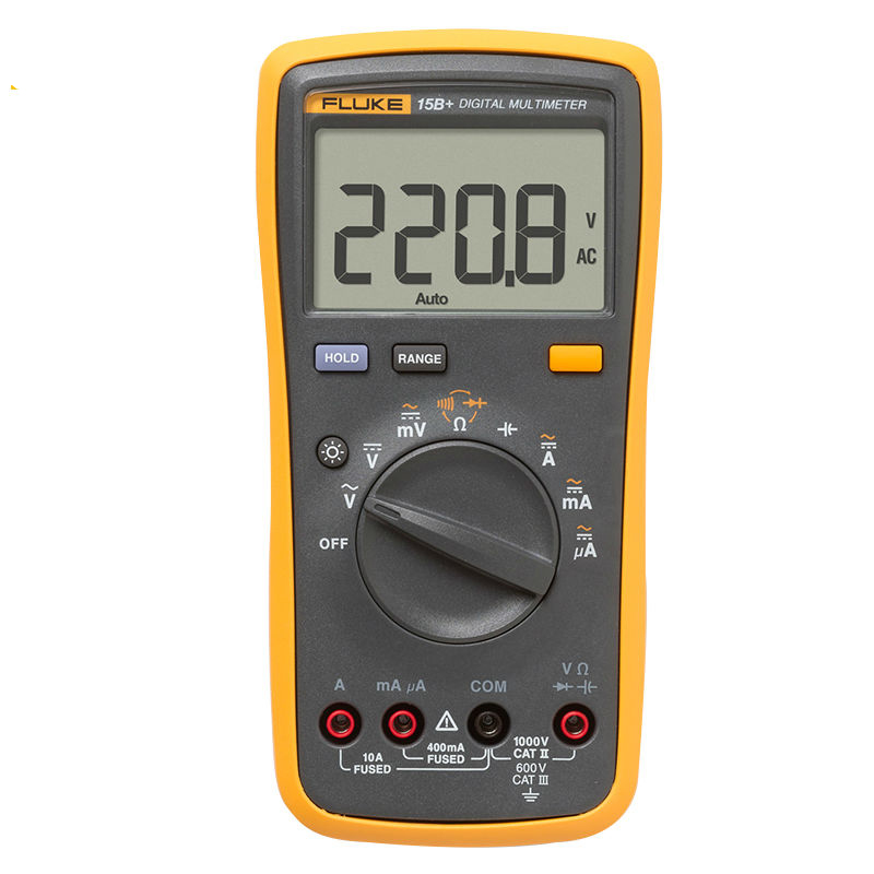 FLUKE F15B 4000 Counts AC DC Voltage Current Capacitance Ohm Auto Manual Range Digital multimeter meter