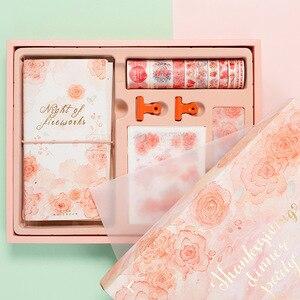 Image 3 - Flamingo Bullet Journal ของขวัญกล่องชุดเกาหลี Freshness ของขวัญนักเรียนเครื่องเขียนโน๊ตบุ๊ค