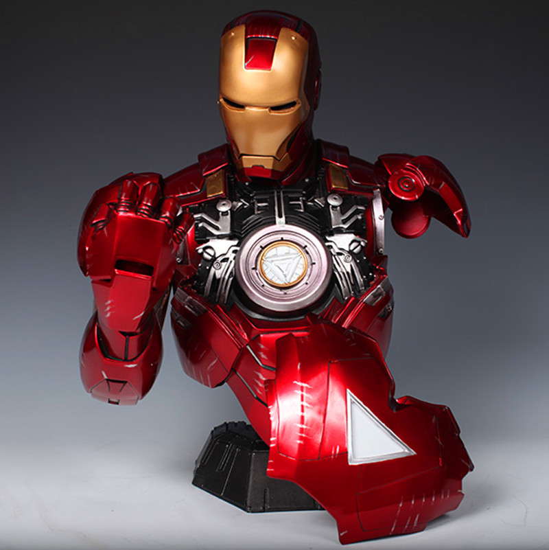 2016 NEW Hot 46cm Resin Captain America: Civil War Avengers Iron Man MK6 Bust Sculpture Become Shiny Action Figure Toys WU556 victorian america and the civil war