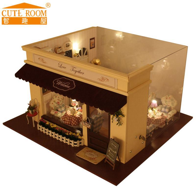 Doll Furniture For Sale Part - 37: 2016 Hot Sale Home Decoration Crafts Wooden Doll Houses Miniature DIY Dollhouse  Furniture Kit Room LED
