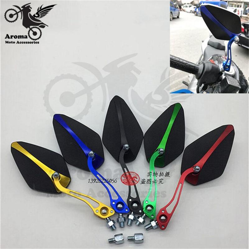 10mm 8mm colorato moto specchietti retrovisori moto parti motocross - Accessori e parti per motocicli