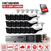 HD 16CH 4MP CCTV Системы AHD DVR 16 шт. 4.0mp 2560*1440 безопасности Камера Крытый Открытый видеонаблюдения Системы легко удаленного просмотра