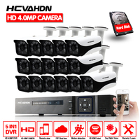HD 16CH 4MP CCTV System AHD DVR 16PCS 4.0mp 2560*1440 Security Camera indoor Outdoor Video Surveillance System Easy Remote View
