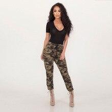 Лучший!  Женщины с высокой талией камуфляж брюки длинные брюки подходят сексуальные леггинсы беговые брюки  �