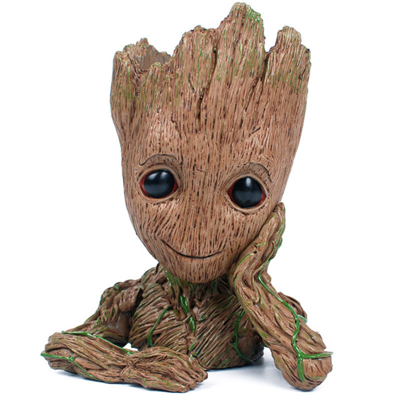 3D Baby Flowerpot Action Figures Home Decor Model Toy Pen Pot PVC Hero Creative Guardians Of The Galaxy Crafts Drop Shipping