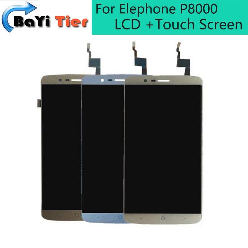 imágenes para 100% Para Elephone P8000 LCD Display + Touch Screen + Herramientas Newst Asamblea Digitalizador Reparación del Reemplazo Accesorios en Stock