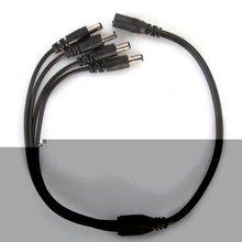 5 шт./лот X Xmas 1 до 4 DC Мощность 4-Порты и разъёмы Splitter адаптер кабель видеонаблюдения Камера