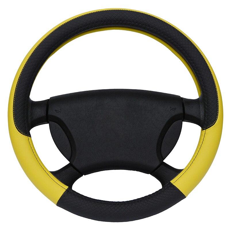 Cubierta del volante cuero Micro fibra tamaño M cabe la mayoría de coches
