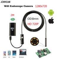 8mm Len câmera de 2MP HD 720 P 2 M 3.5 M WIFI IOS Telefone Cobra Tubo de Inspeção endoscópio USB Cobra Câmera Android Tablet PC Borescope