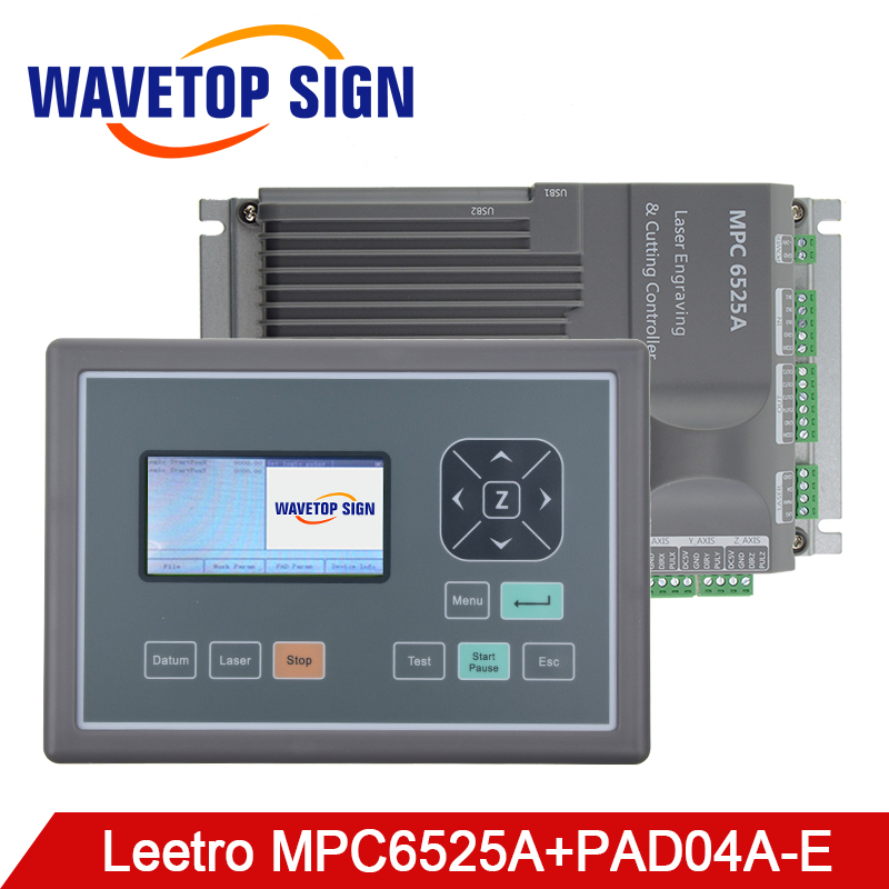 Leetro MPC 6525A mpc6525A Co2 Laser Controller System for Laser Engraving and Cutting Machine leetro co2 laser controller for laser machines mpc6525 laser controller mainboard panel dongle cable 2