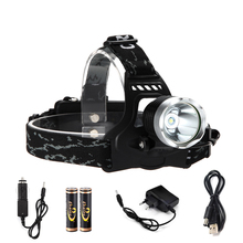 Hot Sale High Power Waterproof headlight Cree XML T6 Rechargeable 2000 Lumen LED Headlamp Bicycle Head Lights kit