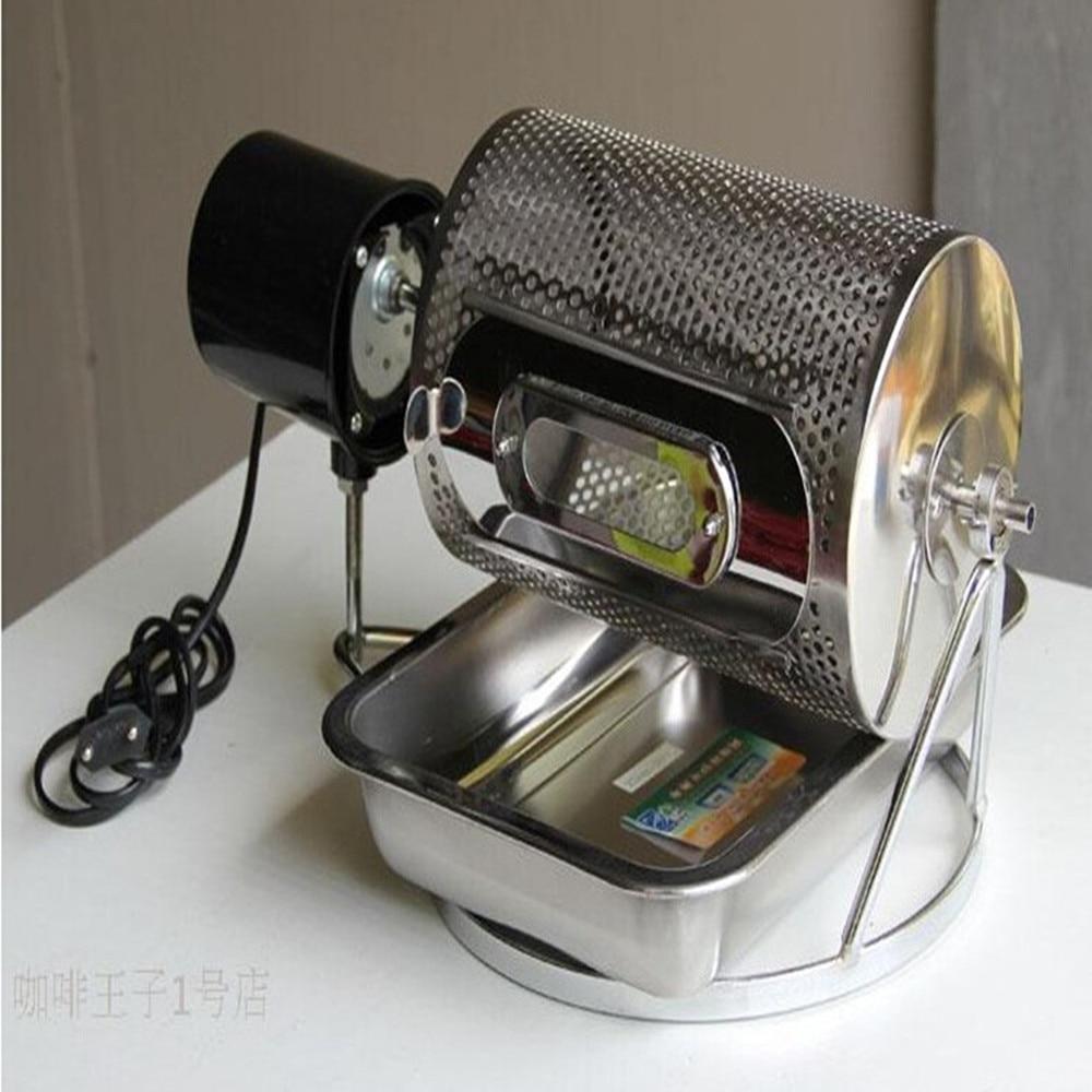 Liten kaffetröskmaskin med liten elektrisk trumtyp för hemmabruk