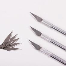 1 Набор, металлическая ручка, скальпель, лезвие, нож, дерево, бумага, резак, ремесло, ручка, гравировка, режущие принадлежности, сделай сам, канцелярский нож