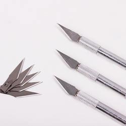 1 комплект металлической ручкой лезвие для скальпеля Ножи из древесной бумаги Резак ручка для эмбоссинга гравировка резки поставки DIY