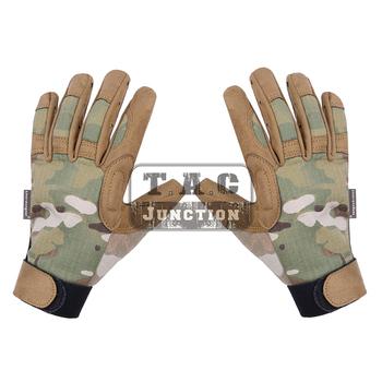 Emerson Tactical Assault lekka kamuflaż rękawica ze wszystkimi palcami EmersonGear na każdą pogodę strzelanie Hunter Airsoft rękawice tanie i dobre opinie Pasuje prawda na wymiar weź swój normalny rozmiar 50 50 NYCO ripstop fabric Tactical Glove Tactical Gloves A-tac Green