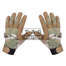 Emerson Tactical Assault lekka kamuflaż rękawica ze wszystkimi palcami EmersonGear na każdą pogodę strzelanie Hunter Airsoft rękawice tanie tanio Pasuje prawda na wymiar weź swój normalny rozmiar 50 50 NYCO ripstop fabric Tactical Glove Tactical Gloves A-tac Green