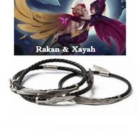 LoL Jewelry Rakan And Xayah Bracelet 925 Silver Charm Women Men Bangles Valentine's Day Present Christmas Gift Free Get Gift