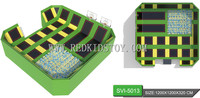 CE Certified Large Trampoline Park With Foam Pit & Basketball Stands for Both Adults and Children HZ LG027b