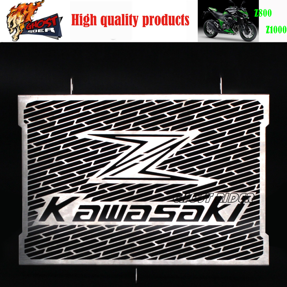 ФОТО 2016 New Arrival Stainless Steel Motorcycle radiator grille guard protection Kawasaki Z750 Z800 ZR800 Z1000 Z1000SX