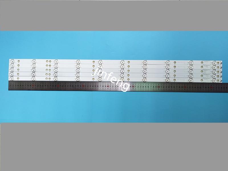 New Kit 5 PCS 10LED(3V) 842.5mm LED Backlight Strip For 43PFT4131 43PFS5301 GJ-2K15-430-D510 GJ-2K16-430-D510-V4 01Q58-A