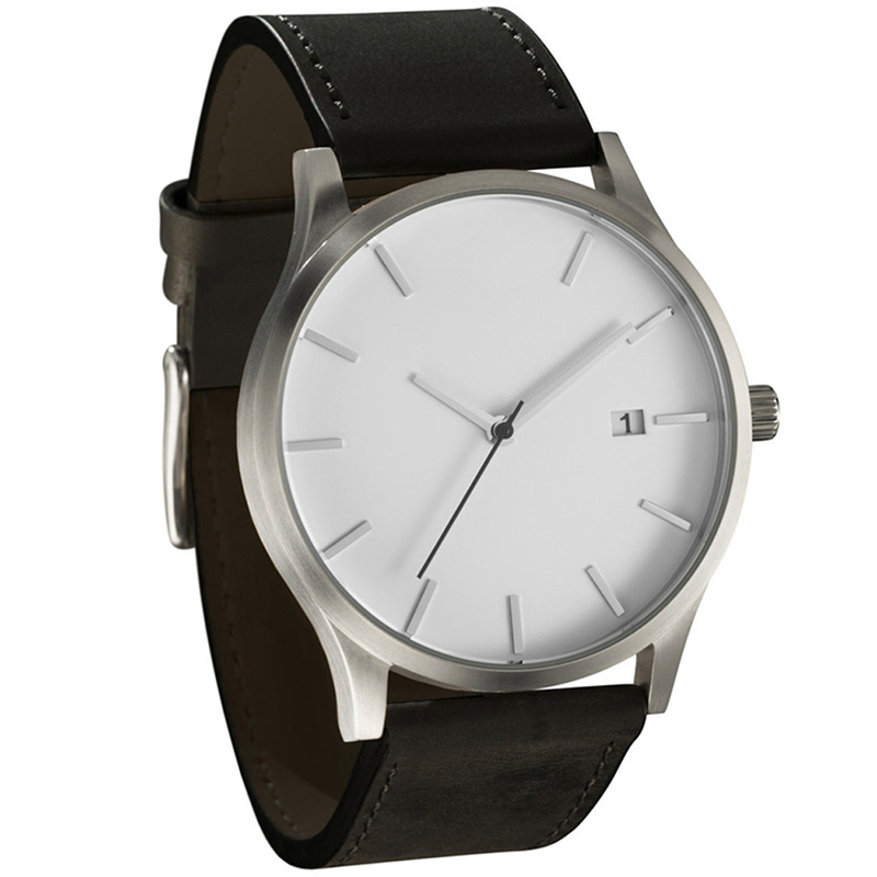 188c08bfe 2019 Men Watch Fashion Military Watches Men No Brand Watch Brown Leather  Quartz Men's Watches Relogio