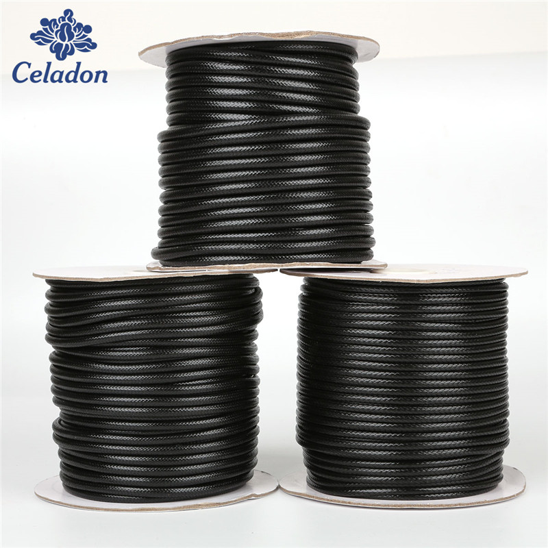 Hot 10/5Meters 2.5/3/3.5/4/5 MM Waxed Thread Polyester Korea Cord Eco-friendly Thread For DIY Necklace Bracelet Jewelry Making