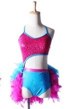 Robe de Danse professionnelle Latine pour femmes, vêtement de Danse, rouge, pour fille, jupe de bal, tendance